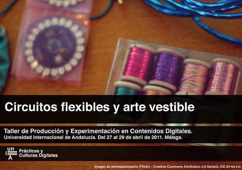Taller circuitos flexibles y arte vestible