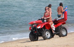 Surf Patrol (I'd Like to Photograph You!) Tags: woman hot beach girl surf lifeguard bikini fourwheeler 4wheel