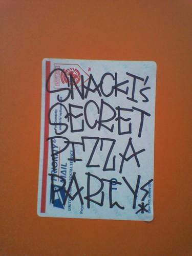 snackis secret pizza parti