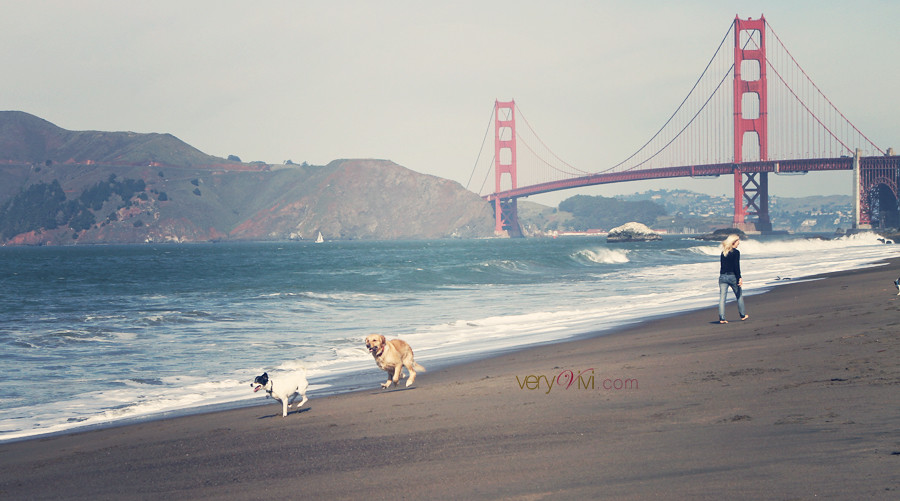 Running on Baker Beach, San Francisco