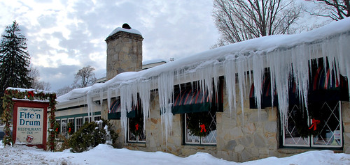 Icicles at the Fife 'n Drum