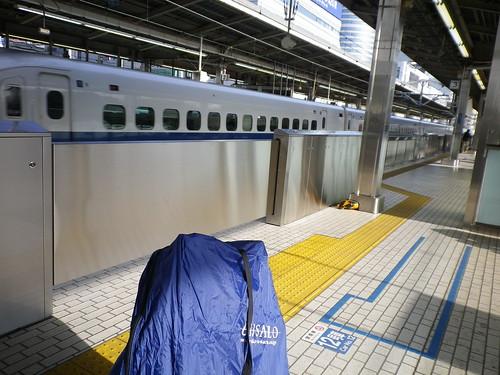 新横浜新幹線ホームにて