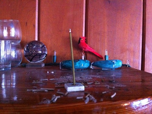 Incense (and cardinal)