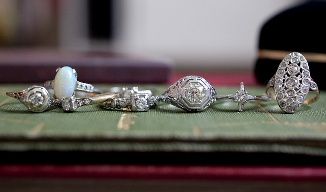 tinydiana antique diamond rings