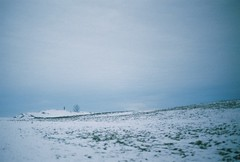(Sug Scott) Tags: winter snow cold castle wind walk hill somerset run cadbury mad jogging jogger