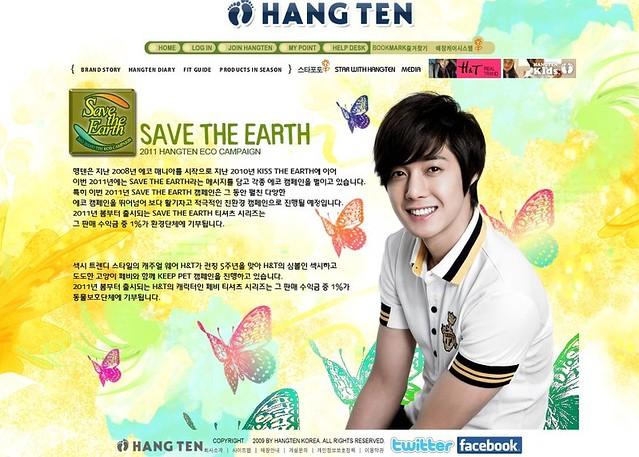 Kim Hyun Joong HangTen Korea Site Snapshots