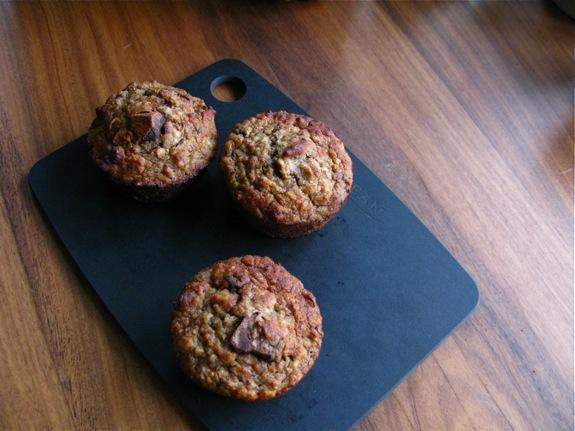 banana nut quinoa muffins 002