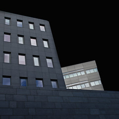 Like ships in the night (Arni J.M.) Tags: reflection window wall blackbackground buildings geotagged iceland islandia reykjavik geotag reykjavk sland islande islanda nikond80