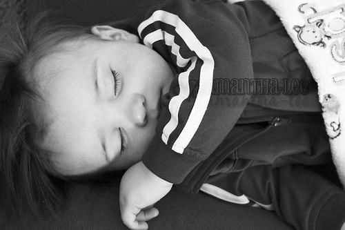 sleeping bw