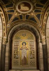The Virgin Martyr's Crown (Lawrence OP) Tags: rome saint shrine basilica chapel virgin martyr crypt stagatha santaceciliaintrastevere