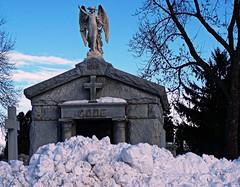 Snowed In (seanbirm) Tags: cemeteries snow illinois hillside blizzard cookcounty mountcarmelcemetery codepicnik