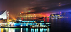 Surreal Victoria Harbour ([~Bryan~]) Tags: hongkong smoke surreal firework pollution tst tsimshatsui victoriaharbour 2011 lunarnewyearfireworksdisplay gettyimageshongkongmacauq1