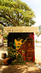 BAR DO REGGAE (anandanahu) Tags: africa street new brazil music woman black flower art texture praia beach nature animal brasil modern female bar painting graffiti stencil paint do artist acrylic power arte skin african kunst orla natureza spray bridget soul bahia musica afrika brazilian neo ananda reggae negra forte moderna pintura ze painture artista rythm nordeste padgett ona brasileira afrikaner tecido senzala itacare firme contemporany romilda nahu izolag
