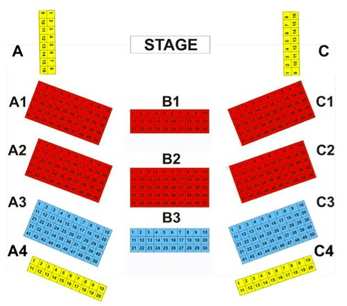 A Big Band Love Affair Seat Plan