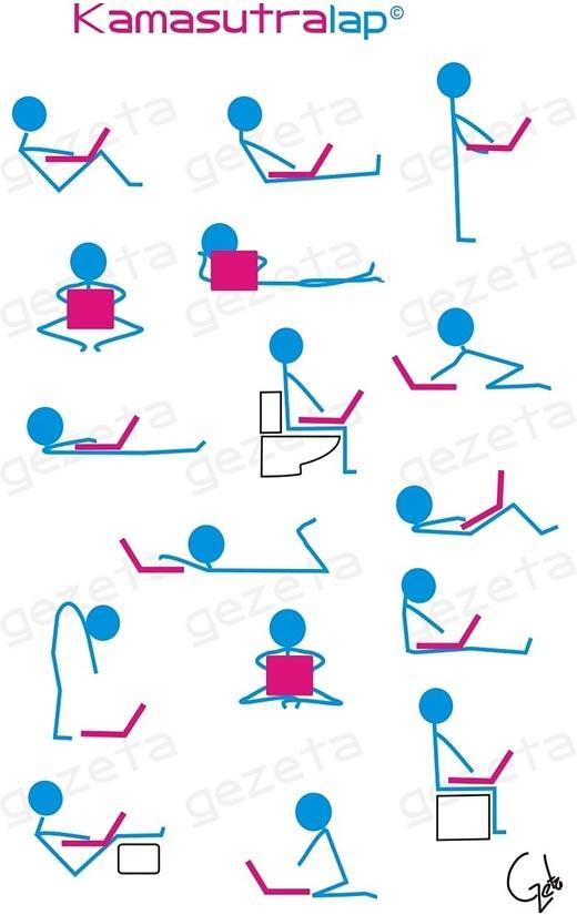 Humor: Kamasutralap, las posiciones mas sensuales con tu laptop