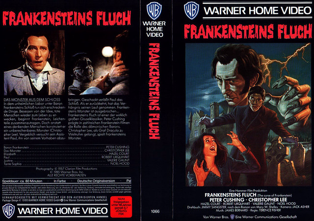 The Curse Of Frankenstein (VHS Box Art)