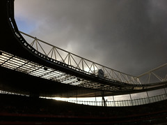 Hail...Rain and Wind as the teams kicked off ('S') Tags: game london club football stadium north emirates february arsenal wolves premiership gunners gooners 2011 clockend