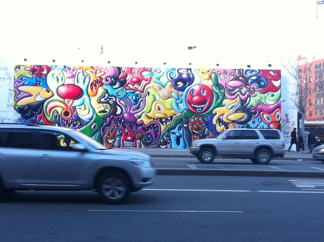 Day 39 Kenny Scharf mural E. Houston