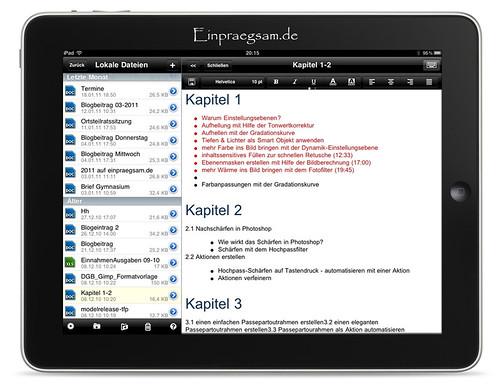 Office2HD für iPad - Word und Excel-Dokumente am iPad erstellen