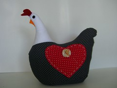 Galinha de angola peso de porta (loja segredo da arte) Tags: patchwork galinhas