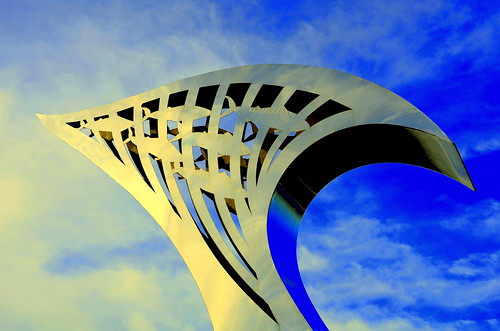 Sculpture At The Marine Way Bridge Southport