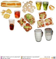 iwan ate it on 20110106 (iwanwilaga) Tags: art thankyou documentation gratitude foodart foodphoto eatart fooddiary dailyfood iwanwilaga