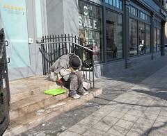 Despair.jpg (Boston Pozivivor) Tags: fashion boston lunch spring citylife streetartist pedestrians february shoppers streetpeople bostonians beggars elementsorganizer