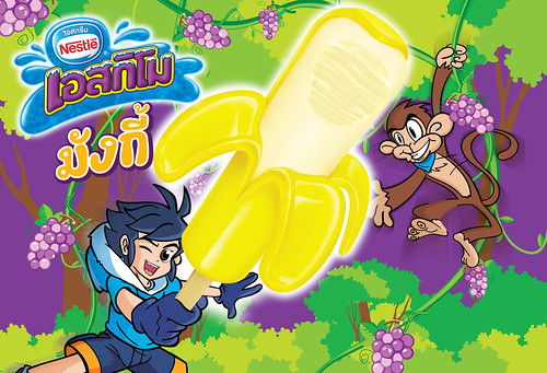 Eskimo monkey peelable ice cream