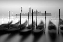 Sleepy Gondolas and San Giorgio Maggiore (MaggyMorrissey) Tags: longexposure venice gondola