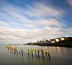 Smooth skies (RyanCrockerPhotography) Tags: ocean sea england west beach canon landscape bay coast pier long exposure angle south country wide dorset swanage jurassic purbeck 5dmkii