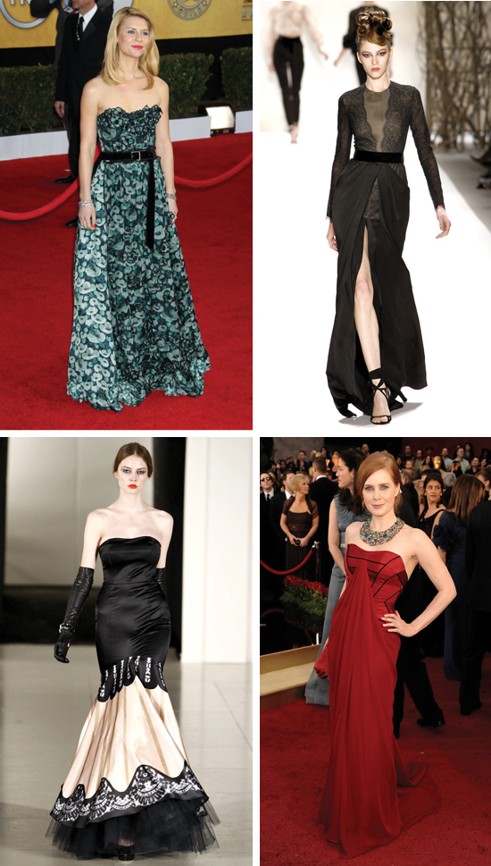 Amy Adams, Claire Danes, Oscar Red Carpet, Monique Lhuillier, Temperley London