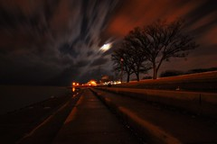 Cloud Drifts Over Adler.....And A Full Moon!!! (Seth Oliver Photographic Art) Tags: chicago reflections illinois nikon midwest lakemichigan fullmoon nightshots southloop pinoy downtownchicago adlerplanetarium longexposures chicagoist leadinglines d90 15secondexposure nightexposures wetreflections slightcrop winterinchicago clouddrifts manualmodeexposure setholiver1 aperturef140 nocturneimages remotetriggeredshot tamron1024mmuwalens ballheadtripodmountedshot