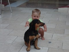 Baby and Dog (Hear and Their) Tags: hotel cuba atlantico guardalavaca