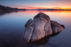 Elephant in the Pond:  Lake Tahoe, Nevada (Ivan Sohrakoff) Tags: sunset elephant rock landscape evening peak laketahoe northshore granite sierranevada pinnacle keeptahoeblue sandharbor landscapephotography tahoesunset tahoelandscape californialandscapephotography laketahoelandscape ivansohrakoffphotographic isophotographic