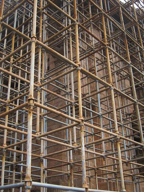 Sun Temple scaffolding
