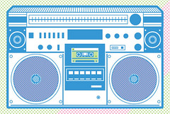 On the Radio (globitron fanclub) Tags: old school summer urban music radio gangster designer player mixtape stereo tape record illustrator hip hop rap boombox breakdance cassette deejay audio ghetto vector blaster fontalicious ywft youworkforthem balvanz globitron