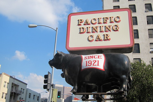Pacific Dining Car: Exterior + Sign