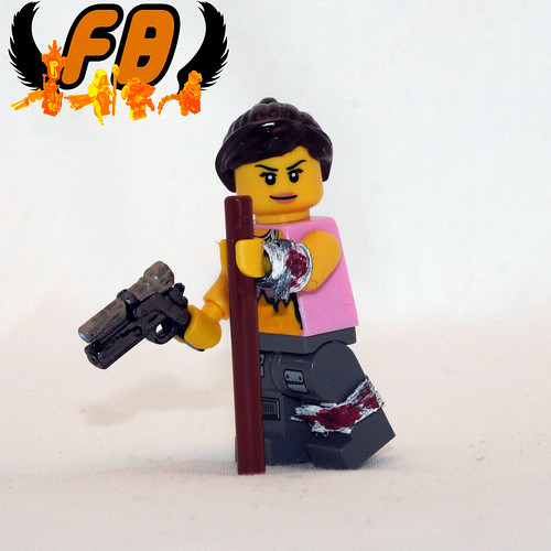 Custom minifig Post-Apoc Babe with BrickArms 2