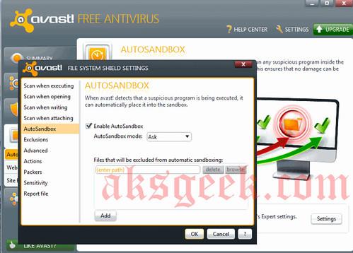 avast antivirus 6.0 auto sandbox