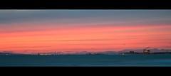 orange sunset (Eric 5D Mark III) Tags: california city longexposure light sunset sky orange usa cloud seascape canon landscape twilight unitedstates smoke atmosphere newportbeach tele orangecounty tone ef24105mmf4lisusm horizontalpanorama eos5dmarkii hpano