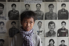 S21, Tuol Sleng Prison, Cambodia - I know what you all did to the children! (Mio Cade) Tags: boy portrait kid cambodia kill child victim prison finepix torture fujifilm homicide kenai phnom penh s21 sleng x100 tuaol