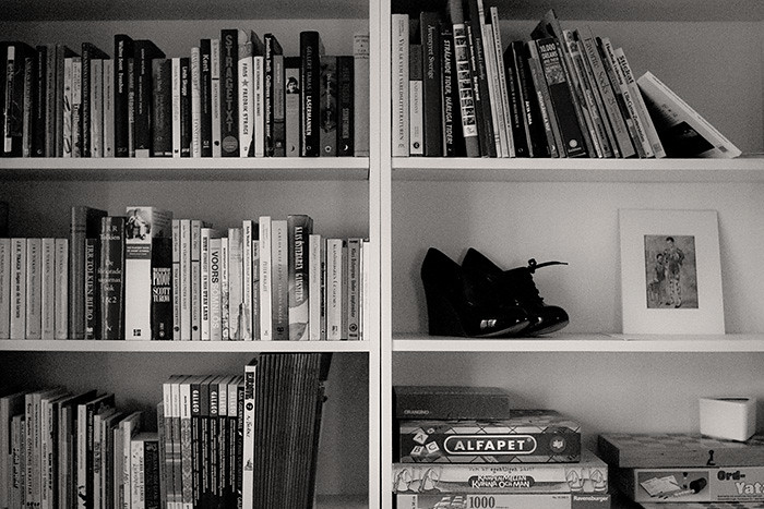 Some of our bookshelves