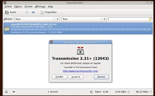 OpenSuSE 11.4rc2 récupéré via BitTorrent