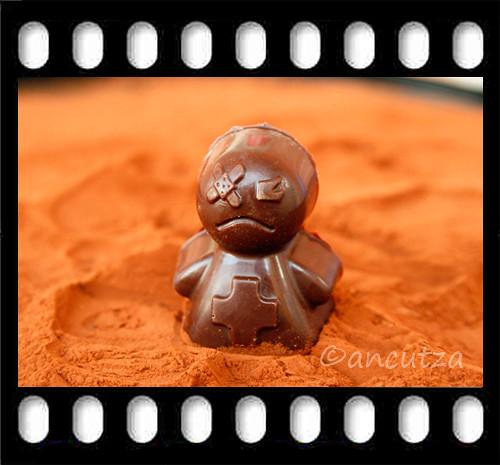 l'omino di cioccolato
