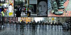 Ignorantes!, vigilantes, permanecen simpre atentos... (Dexpierte) Tags: oscar colombia bogota arte nicolas urbano silva salas policial jhony neira brutalidad cartelismo esmad