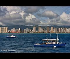 BLUE HAWAII (RUSSIANTEXAN) Tags: hawaii usa oahu honolulu waikiki bluehawaii vacation pacific ocean mountains island cityscape resort svetanphotography anvarkhodzhaev russiantexan