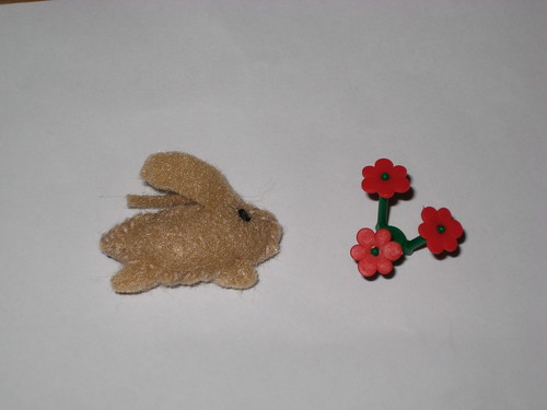 Day 27:  Teeny Tiny Felt Brown Bunny Stuffie