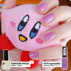 27 de fevereiro de 2011 (Dani Sayuri.) Tags: light cute art luz angel de kirby shine top coat sandy nail nintendo rosa polish plush kawaii verão luzes hits brilho unha gelatina esmalte sancion delícias flakie flocado laqueur