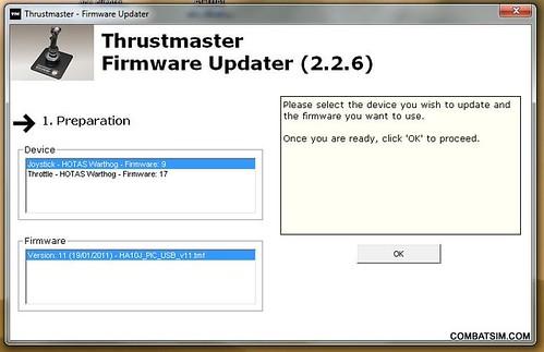 do i need new thrustmaster warthog firmware