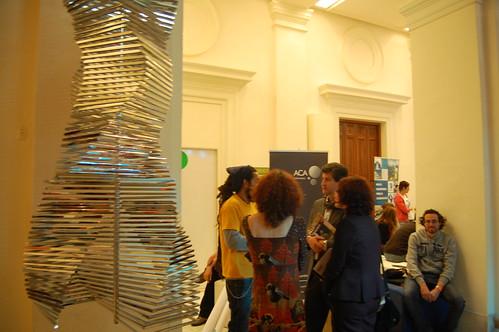 Stand de ACA en el Año Europeo del Voluntariado en la sede de la Fundación BBVA